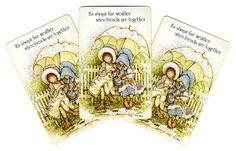 Holly Hobbie FAIR WEATHER (3) Vintage Single Swap Playing Cards Paper Ephemera Scrapbook Supplies on Etsy, $1.41 AUD