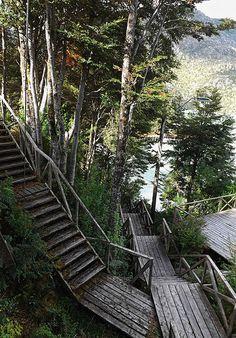 Caleta Tortel - Patagonia - Chile Tu y tus malditas escaleras! Igual bello