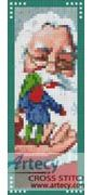 Santa and Elf Bookmark Counted Cross Stitch Pattern http://www.artecyshop.com/index.php?main_page=product_info&cPath=26&products_id=1093