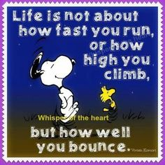 life is not about how fast you run, or how high you climb, but how well you bounce