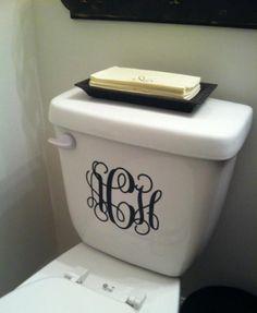 toilet monogram