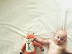 Baby boy; great shot idea. Little girl with headband & a flower prop
