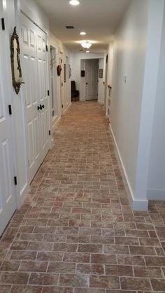 Entryways and hallways - Inglenook Brick Tiles - thin brick flooring, brick pavers, ceramic brick tiles, brick floors. Brick Tile Floor, Brick Paving, Brick Flooring, Kitchen Flooring, Brick Floor Kitchen, Flooring Ideas, Kitchen Backsplash, Thin Brick, Faux Brick