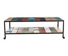 Mesa de centro en madera de teca reciclada Abia