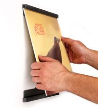 Vinyl record frames - sleeker, simpler and easier to change out than traditional record frames