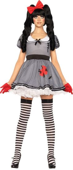 Adult Wind Me Up Doll Costume - Party City