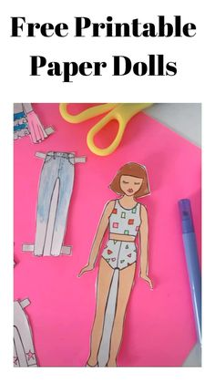 Paper Dolls Clothing, Barbie Paper Dolls, Doll Clothes, Paper Dolls Book, Paper Doll Template, Paper Dolls Printable, Paper Doll Craft, Paper Crafts Origami, Craft Activities For Kids