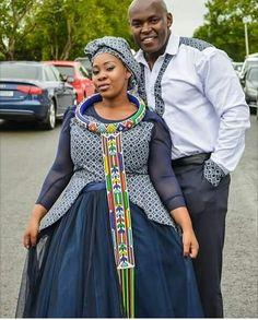 100 Xhosa Traditional Dresses Designs 2018 Shweshwe - Nails C African Attire, African Fashion Dresses, African Dress, Xhosa Attire, African Outfits, South African Traditional Dresses, Traditional Dresses Designs, Shweshwe Dresses, Culture Clothing