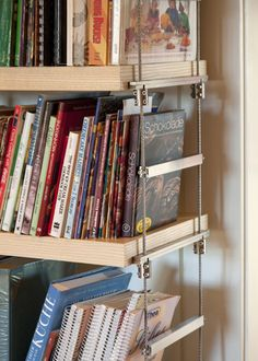 steel cable bookshelves