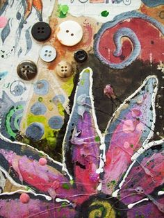 Mixed Media on Cardboard - Conway High School Art Project