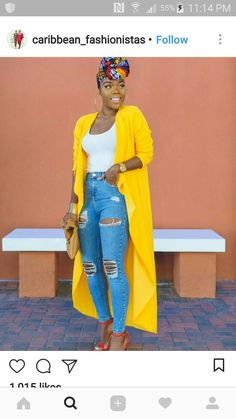 fashion - Come thru Mustard Jacket : 90 degree weather smh The funny thing is that it was actually cooler when I wore this outfit, so I didn't mind at all plus I was matching the sun and my highlighter hahah Okay let's … - fashion Black Girl Fashion, Look Fashion, Autumn Fashion, Fashion Outfits, Womens Fashion, Fashion Fashion, Fashion Tips, Feminine Fashion, Jeans Fashion