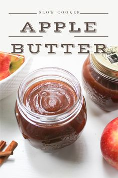 This slow cooker maple apple butter recipe is easy to make and DELICIOUS!!! Add everything to your slow cooker, turn it on and wait for the delicious smells!!! You're going to love this naturally sweetened, homemade apple butter.  #applebutterrecipe #applebuttercrockpot @applebuttercrockpotrecipes Apple Recipes, Pumpkin Recipes, Fall Recipes, Baking Recipes, Slow Cooker Apples, Slow Cooker Recipes, Fall Breakfast, Breakfast Recipes, Homemade Apple Butter