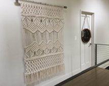 Macrame grande colgando de la pared, tapiz/tejer
