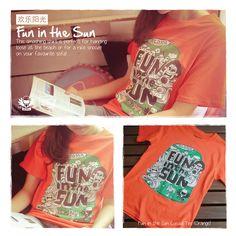 Tikii Brand, Notii Run Way, Tee Shirt Design, Fun in the Sun Tee Shirt. #Tikii #NotiiRunWay #TeeShirt #FunInTheSun