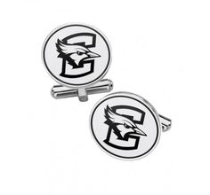 Collegiate Cufflinks North Texas Mean Green Eagles Cufflinks Stainless Steel 18mm Round with Bullet Back and Brushed Surface Top is Approximately The Size of a Dime.