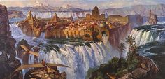 Another view of Waterfall City in Dinotopia--Don't you wish it was real?