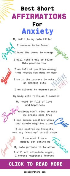 Best Short Affirmations For Anxiety