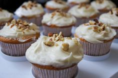 These almond cupcakes are moist and spongy with a bit of crunch from the almonds and are topped with a cream cheese frosting that is sweet, creamy and tangy.