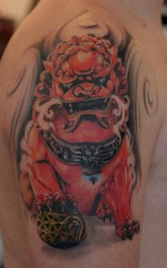 40 Foo Dog Tattoo Designs für Sie #designs #tattoo