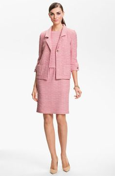 St. John Collection New Shantung Jacket & Dress  available at #Nordstrom