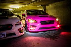 Pink Lamin-X fog light covers #subaru #wrx #pink #laminx