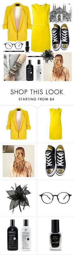 """""""⚠💣"""" by georgyana7770 ❤ liked on Polyvore featuring River Island, Victoria, Victoria Beckham, Hershesons, Converse, M&Co and Barry M"""