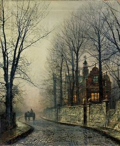 November Moonlight. John Atkinson Grimshaw (1836-1893)