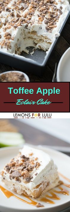 """This eclair cake is like apple pie but better!  Graham crackers are the """"cake""""…"""