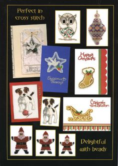Jill Oxton's Cross Stitch & Bead Weaving Magazine, Issue 93 back cover. Issue 93 is available from Australian Needle Arts