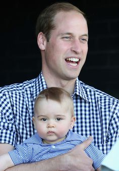 Prince George has the best facial expressions EVER! I bet he's going to be a wag like his uncle Harry. Look at this face! Love it!