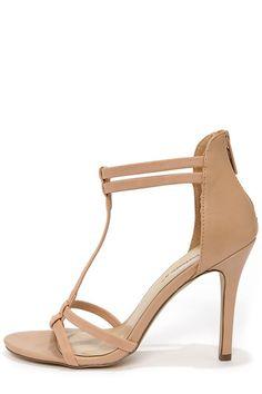 Sydney 22 Natural T Strap Dress Sandals at Shoeocean.com! Grrr. Too narrow!