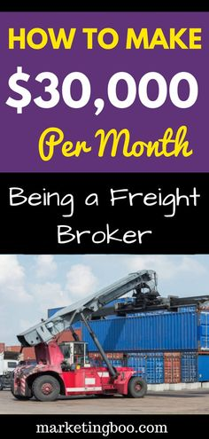 How to Make Money Online being a Freight Broker