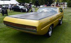 """""""The unique design Golden car 1965 Dodge Deora Concept is a dream for collectors. Dodge Trucks, Big Trucks, Pickup Trucks, Weird Cars, Cool Cars, Custom Trucks, Custom Cars, Vintage Racing, Vintage Cars"""