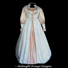 MADE TO ORDER Renaissance Faire Wedding Bridal Gown Dress, Your Size and Colors by MidnightBreezeStudio on Etsy