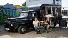 Rainbo London food truck  948 Ford pickup Foodtrucks Ideas, Street Food Business, Starting A Food Truck, Hugh Fearnley Whittingstall, Coffee Van, Best Food Trucks, Food Truck Design, Food Trailer, Best Street Food