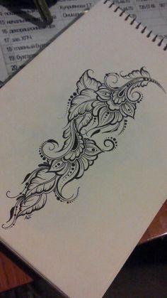 : D - Diy Tattoo Leg Tattoos, Black Tattoos, Body Art Tattoos, Sleeve Tattoos, Tattoos To Cover Scars, Cover Tattoo, Floral Tattoo Design, Henna Tattoo Designs, Diy Tattoo