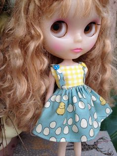 No Spring Chicken Blythe Party Dress by piparrot on Etsy, $25.00