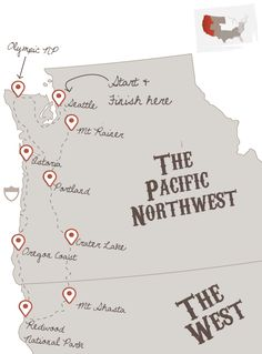 PNW road trip. Stretch it down to start and end in SF and I'm in!!!