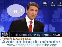 Daily French Expression: Avoir un trou de mémoire: to have a mental block, blackout http://www.frenchspanishonline.com/magazine/?p=4069