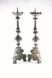 Zwei Barock Kerzenleuchter Kandelaber