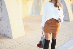 suede skirt | seams for a desire