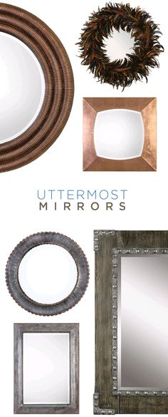 Wonderful Howard Elliott Collection Orbit Silver Leaf Round Mirror | Round Mirrors,  Sinks And Bedrooms Great Pictures