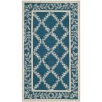 Chelsea Navy/Cream (Blue/Ivory) 3 ft. 9 in. x 5 ft. 9 in. Area Rug
