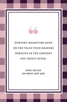 Content marketing runs on the value your readers perceive in the content you freely offer. #DigitalMarketing #ContentMarketing #Blogging #Entrepreneur  Blogging Doesn't Sell Shit: How To Make Your Blog Convert Like Magic http://thewritecopygirl.com/make-your-blog-convert/?utm_campaign=coschedule&utm_source=pinterest&utm_medium=Hazel&utm_content=Blogging%20Doesn%27t%20Sell%20Shit%3A%20How%20To%20Make%20Your%20Blog%20Convert%20Like%20Magic