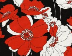 Red and White Poppies