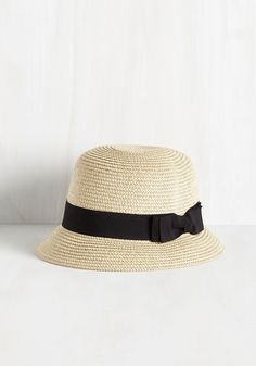 Cloche to Home Hat. Its been awhile since you returned to your roots, and a homecoming in this light tan hat will make the most memorable impression! #tan #modcloth