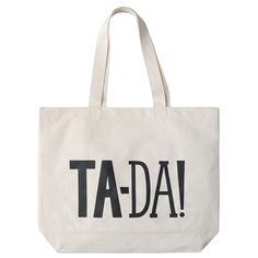 Alphabet Bags Ta-Da Large Natural Tote Bag