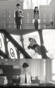 Disney's Paperman short film. cutest thing ever.