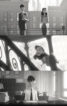 Disney's Paperman short film. cutest thing ever.