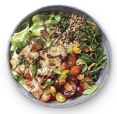 tuscan+grain+bowl+with+grilled+chicken+and+broccolini